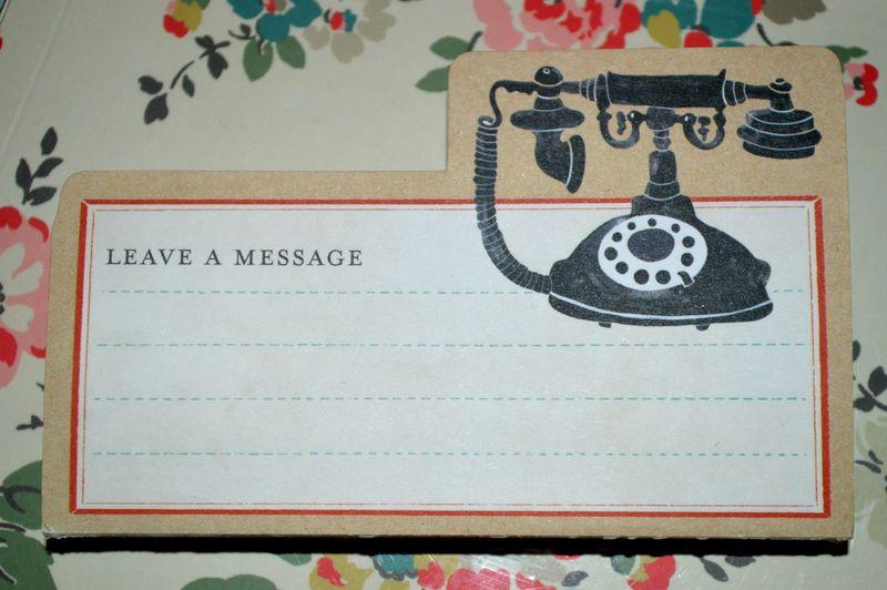 Leave a message edit